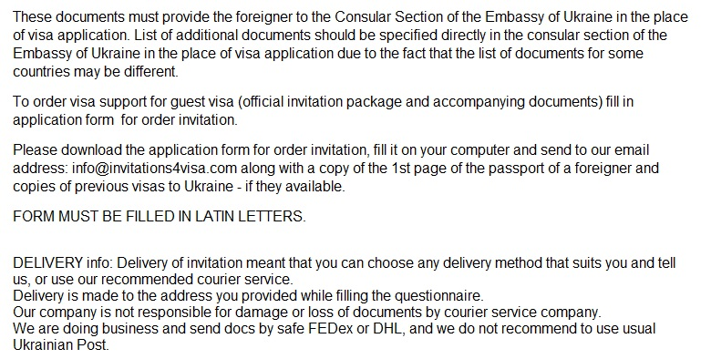 Private guest invitation letter to ukraineinvitation for visa to the useful links for customer below the courier tarifs fees by fedex from kiev capital of ukraine to your country the address and contacts of the thecheapjerseys Choice Image