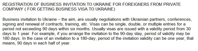 Business Invitation Letter To UkraineInvitation For Visa