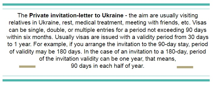 Private Guest InvitationLetter To Ukraineinvitation For Visa To